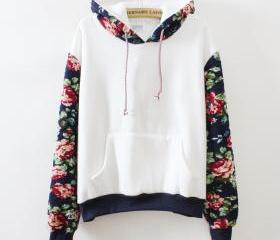 Retro flowers hooded..