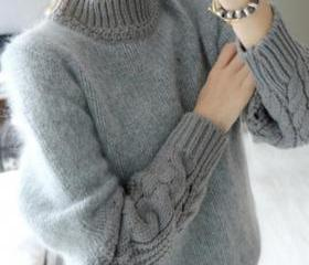 Retro loose knit swe..
