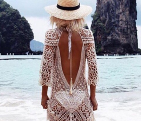 Sexy White Beachwear..
