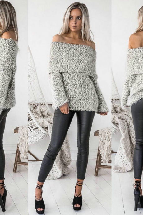 Women Loose Long-Sleeved Sweater